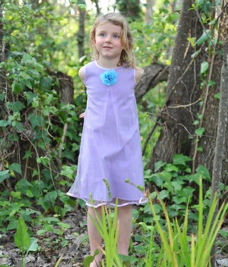 Girls occasion dress lilac