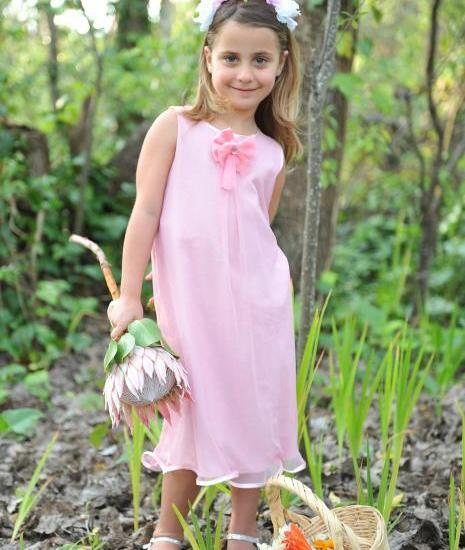 Girls occasion dress pink